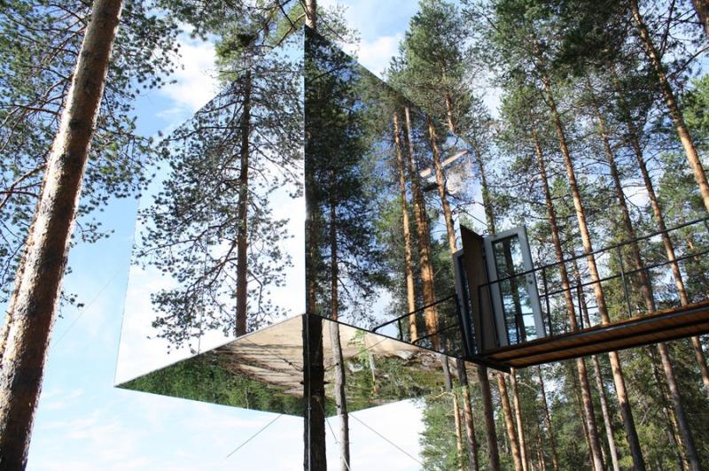 Le Mirrorcube au Treehotel en Suède. Inspiration camping/glamping Parka Architecture & Design, Québec.
