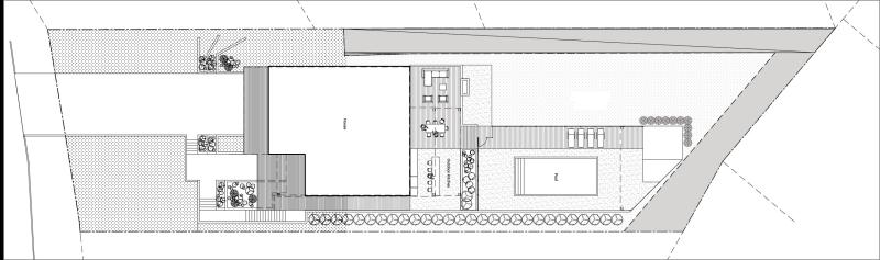 Plan d'architecture - Terrain de la résidence