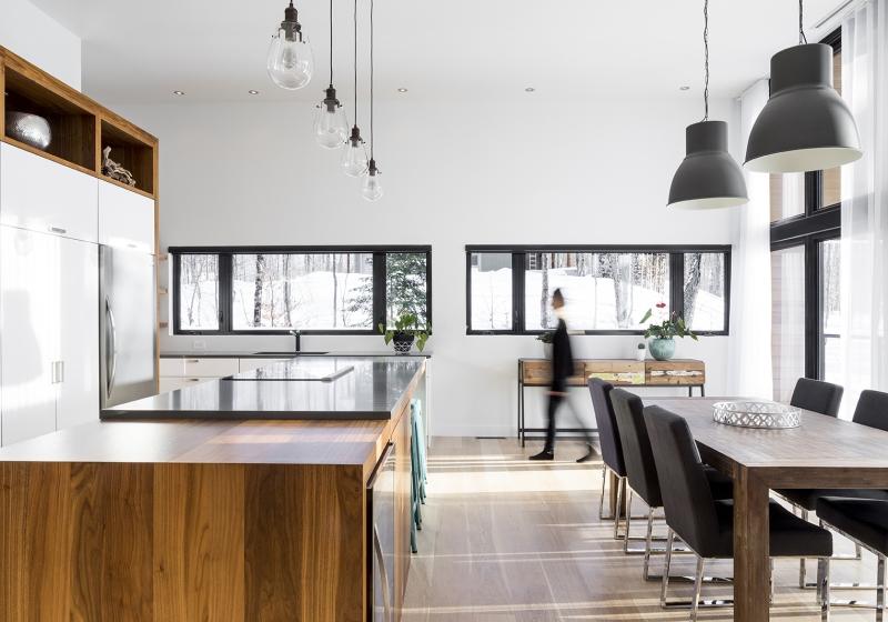 Résidence à Stoneham   cuisine et salle à manger