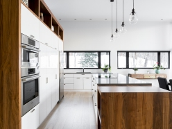 Résidence à Stoneham | cuisine lumineuse