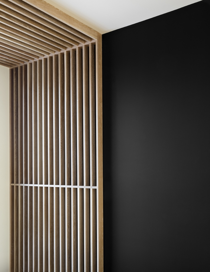 Résidence à Stoneham   détails de bois