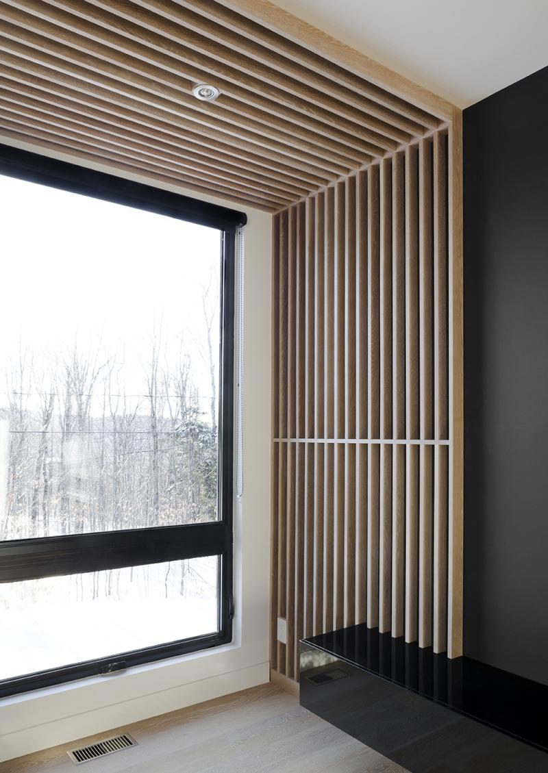 Résidence à Stoneham   détails de bois et fenestre